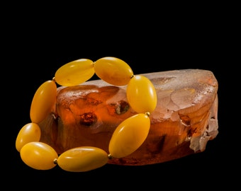 "Amber Bracelet ""Yellow Plums"""
