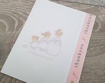 Bridesmaid card, thank you bridesmaid, thank you for being my bridesmaid, thanks bridesmaid