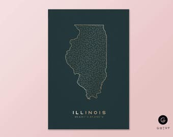 "Illinois Print - 5"" x 7"" - 50 States Series 