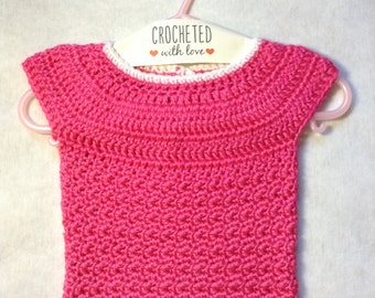 Pretty in Pink Baby Sweater 0-6 month