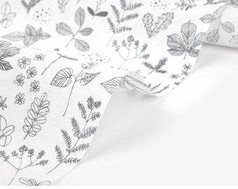 Dailylike (Linen) - Nature leaf fabric- 50cm
