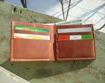 Minimalist wallet, slim bifold wallet, bifold wallet, slim leather wallet, men wallet