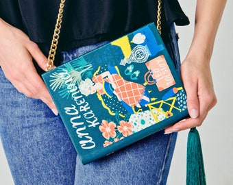 Anna Karenina book-clutch