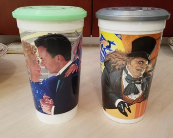 Collectible Batman 1989 and Batman Returns 1992 McDonalds Plastic Cups