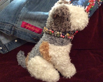 Handmade PET collar beads