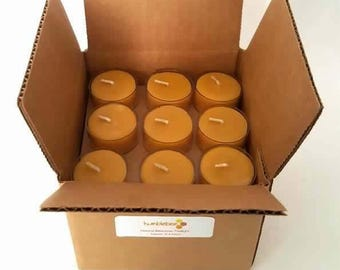 36 package of all natural pure beeswax tealights