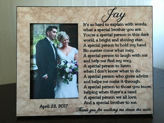 Me To You Wedding Gifts: Wedding Picture Frame For Brother Of The Bride // Gift For