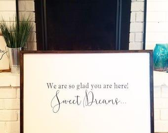Sweet Dreams Sign, Guest Room Decor, guest room sign, guestroom decor, guestroom sign, sweet dreams, bedroom decor, bedroom sign