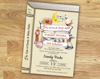 Nursery Rhymes Invitation Baby Shower // Digital FILE Only