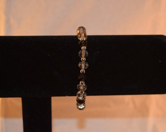 Black and gray ombre bracelet