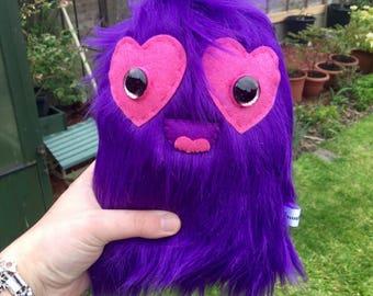 Purple Monster Plush Cute Alien Toys Kawaii Plushie OOAK Art Toy Ugly Cute Creature Weird Stuffed Animals