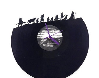 Lord Of The Rings Vinyl Clock