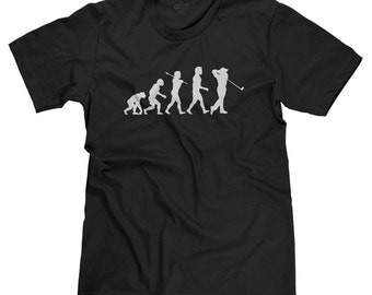 Evolution of Golfer Funny Golf Parody T-shirt Tee