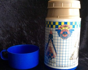 1980s Ring Raiders Thermos