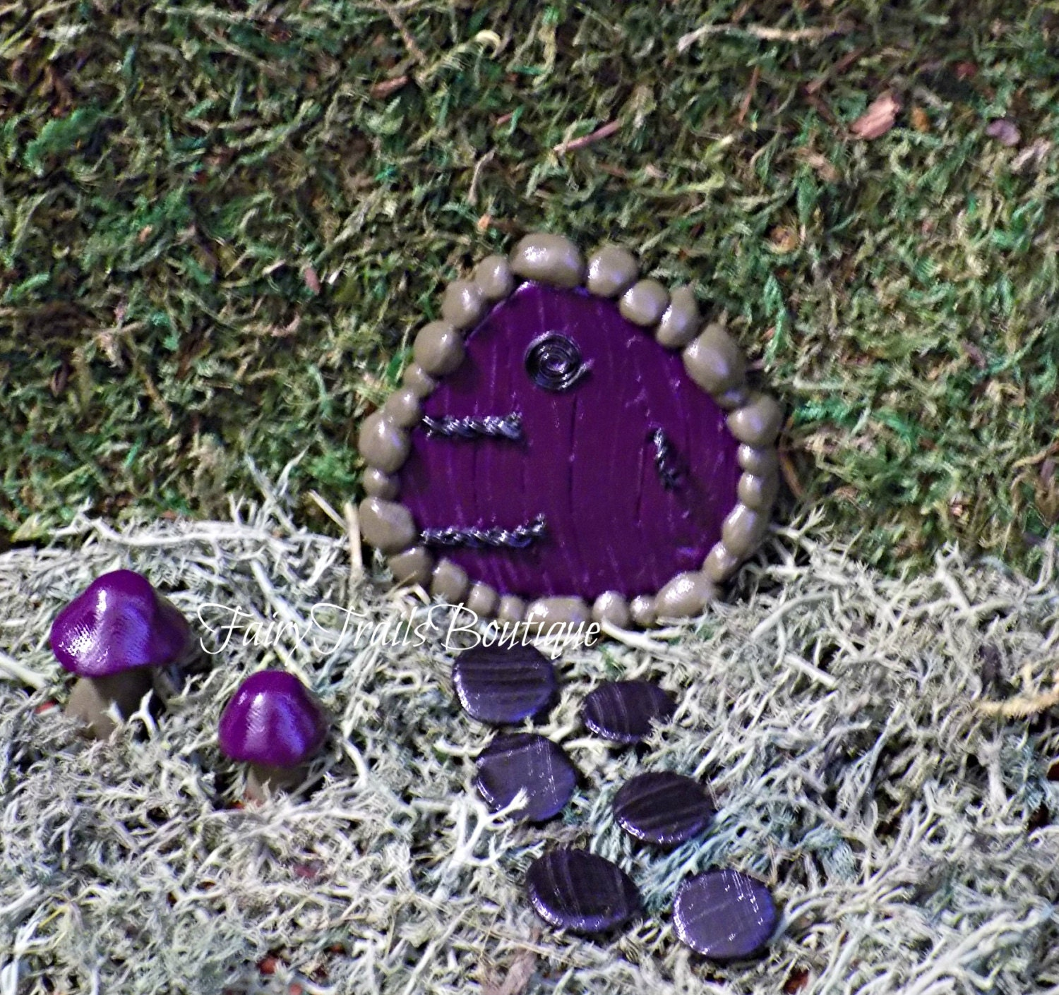 Gothic halloween door kit for miniature fairy gnome garden for Fairy door kits canada