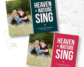Heaven & Nature Sing Holiday Photo Cards