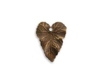 Vintaj Brass Woodland Leaf Charm