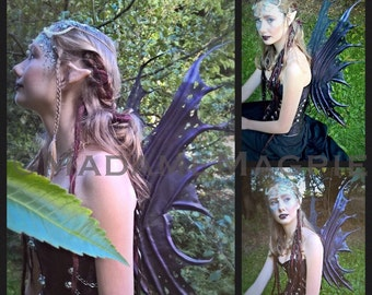 Bespoke, leather Faery wings 'Amethyst'