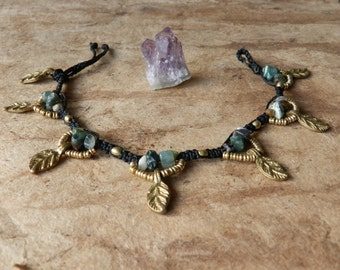 Anklet Tribal Green Agate