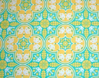 Joel Dewberry Notting Hill Historic Tile Fat Quarter in Canary