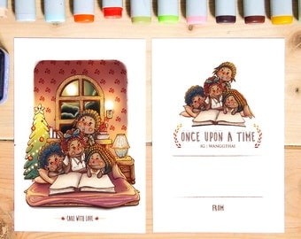 Family Postcard : Once upon a time | art print