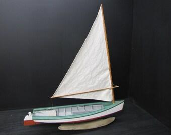 Chesapeake Bay Crabbing Skiff, Boat Model, Sail Boat,