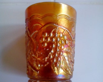 Carnival Glass Tumbler - Imperial Grape