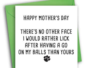 Pet Mother's Day Card/ Funny Mother's Day Card/ Pet Card