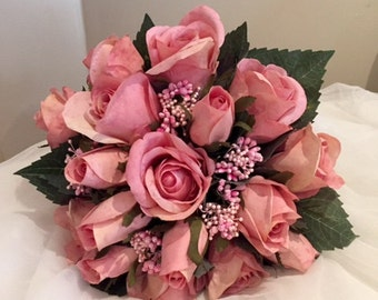 Dusky  Rose Bridal Bouquet