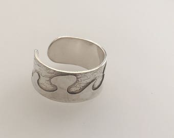 Sterling Silver layered organic un-joined ring