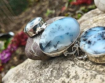 Outstanding dendritic Opal bracelet