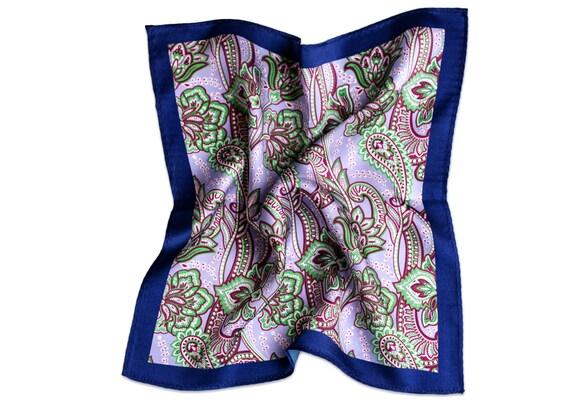 Silk Pocket Square Wild Garden