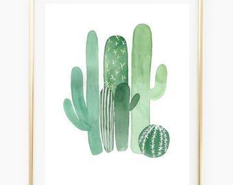 Cactus - Watercolor Art Print