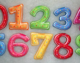 10pcs\1 set Numeral Colorful Felt numbers Figure babies first numbers
