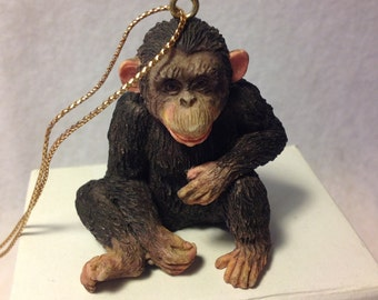 African - detailed Loveable Monkey Handpainted