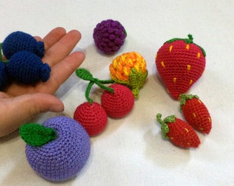 Fruit - Play Food, Toy Food, Crochet Food, Crocheted Food/crochet food play/ Toy food. Berries