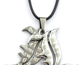 L Death Note Double Pendant Necklace