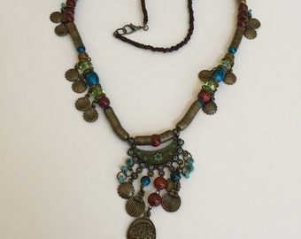 Vintage Bronze Tribal Style Necklace