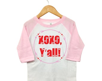 Valentines Day Shirt, XOXO Y'all Arrows, Toddler Valentine, Toddler Heart Shirt, Girls Valentine Shirt ,XOXO Valentine Shirt, Baby Valentine