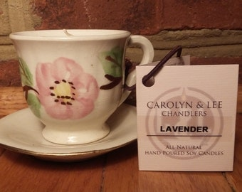 Miniature Floral Lavender All Natural Soy Candle