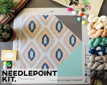 Creative Needlepoint Kit - Ikat - Bon Bon Stitch
