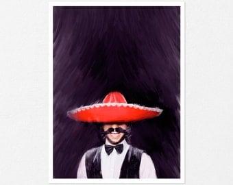 Spanish man, custom portrait, man art, man painting, man portrait