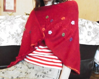hand made Poncho in wool. sale Poncho. Woolen hand-made poncho