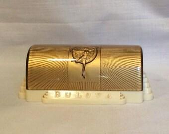 celluloid watch display box vintage art deco 1950's