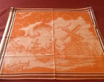 Vintage Dutch Windmill Tea Towel