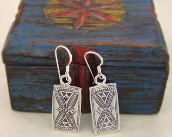 925 Silver earrings. Silver jewelry. Ethnic earrings. Ethnic jewelry.