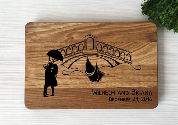 Personalized weding gift,gift for couple,personalized cutting board,tandem bike,bridal shower gift,wedding gift,wood cutting board