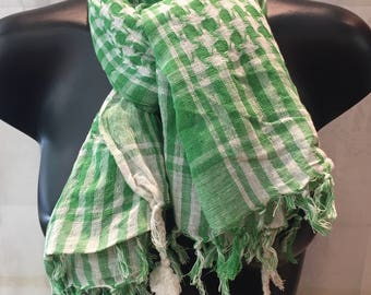 Palestinian scarf of cotton.