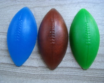 Sports Theme, Football Soap, Pigskin, Gift for Him, Kids Soap, NFL Theme, Superbowl Gift, Novelty Soap, Custom Decorative Soap Set (4.5 oz)