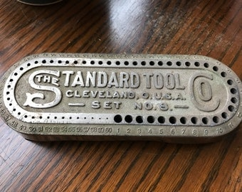 Vintage Standard Tool CO No. 8 Drill Index, Vintage Drill Index, Vintage Tools